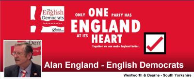 Alan England - English Democrats - Wentworth & Dearne