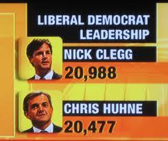 Clegg-Huhne=Leadership poster