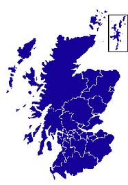 Scotland only map