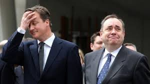 Cameron[holding his head]&Salmond